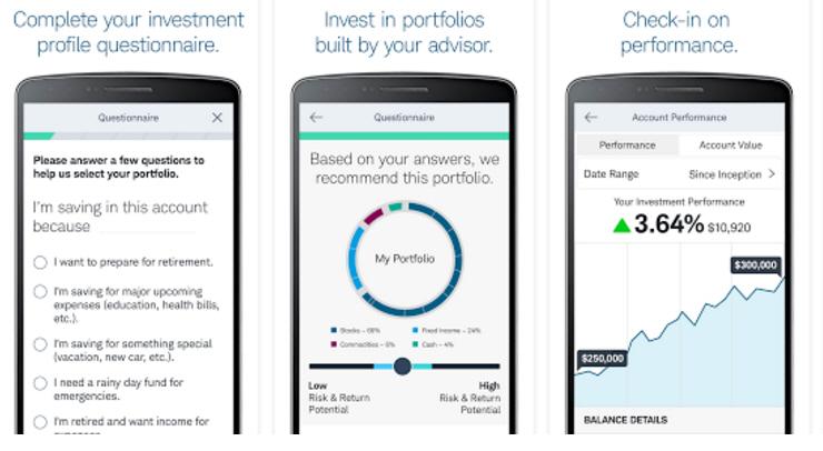 Robo Advisor App Screenshot